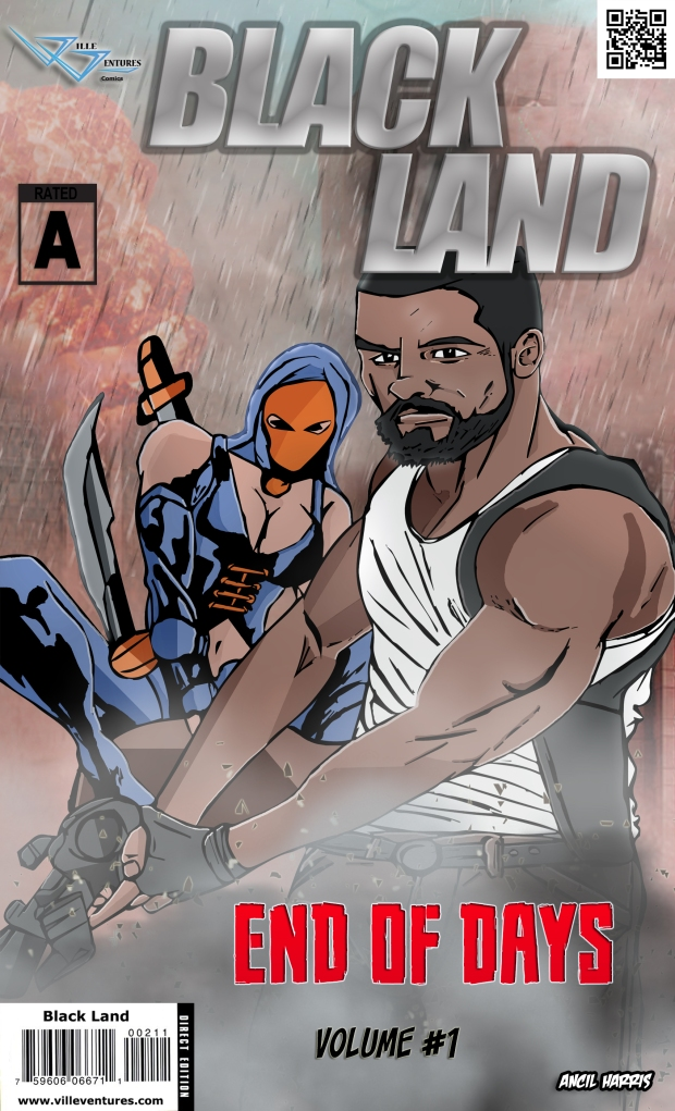 Black land comic book cover